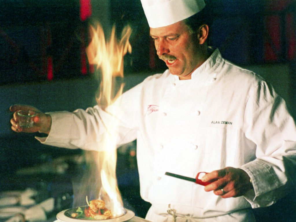 Chef Alan Zeman Fuego flambe